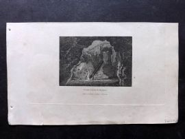 Phillips (Pub) 1823 Antique Print. Grand Cavern, Derbyshire, UK